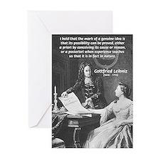 Leibniz Origins of Calculus Greeting Cards (Packag