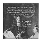 Leibniz Origins of Calculus Tile Coaster