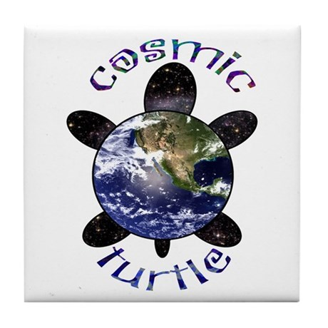 Cosmic Turtle Tile Coaster