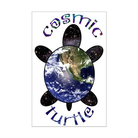 Cosmic Turtle Mini Poster Print