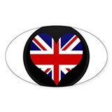 I love United Kingdom Flag Oval Decal