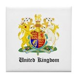 Ukranian Coat of Arms Seal Tile Coaster