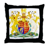 United Kingdom Coat of Arm Throw Pillow