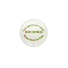 No Holiday Mini Button (100 pack)