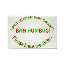 No Holiday Rectangle Magnet (10 pack)