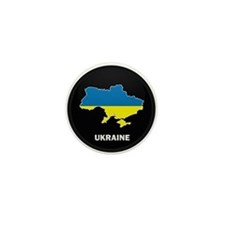 Flag Map of ukraine Mini Button (10 pack)