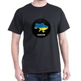 Flag Map of ukraine T-Shirt