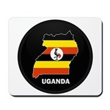 Flag Map of uganda Mousepad