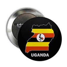 "Flag Map of uganda 2.25"" Button (10 pack)"