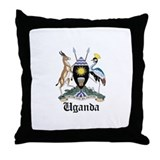 Ugandan Coat of Arms Seal Throw Pillow