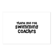 THANK GOD FOR SWIMMING COACHE Postcards (Package o