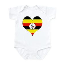 I Love uganda Infant Bodysuit