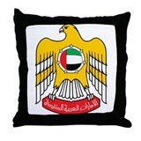 UAE Coat of Arms Throw Pillow