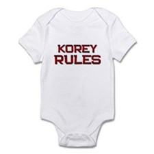 korey rules Infant Bodysuit