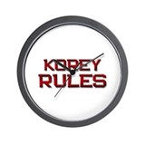 korey rules Wall Clock