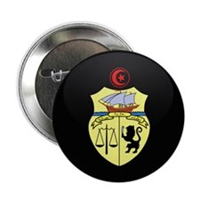 "Coat of Arms of Tunisia 2.25"" Button"