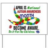 Autism Awareness Month 33.1 Yard Sign