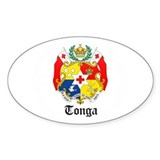 Tongan Coat of Arms Seal Oval Decal