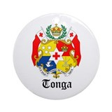 Tongan Coat of Arms Seal Ornament (Round)