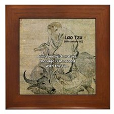 Lao Tzu: Being One Framed Tile