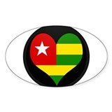 I love togo Flag Oval Decal