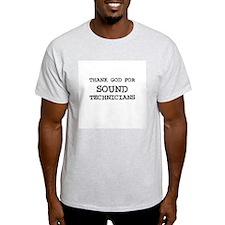 THANK GOD FOR SOUND TECHNICIA Ash Grey T-Shirt