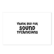 THANK GOD FOR SOUND TECHNICIA Postcards (Package o