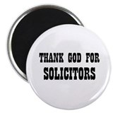 "THANK GOD FOR SOLICITORS 2.25"" Magnet (10 pack)"