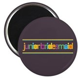 Funky Type Jr Bridesmaid Magnet