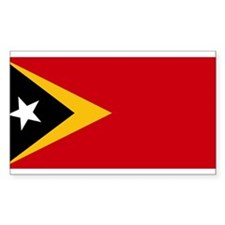 Timor Leste Flag Rectangle Decal
