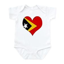 I Love Timor Leste Infant Bodysuit