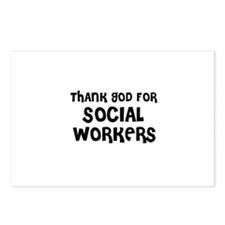 THANK GOD FOR SOCIAL WORKERS  Postcards (Package o