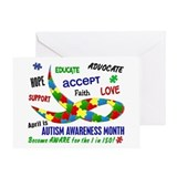 Autism Awareness Month Greeting Card
