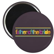 """Funky Type Bride's Father 2.25"""" Magnet (100 pack)"""