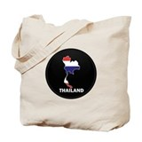Flag Map of Thailand Tote Bag