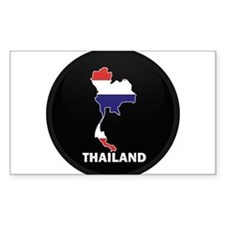 Flag Map of Thailand Rectangle Decal
