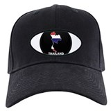 Flag Map of Thailand Baseball Hat