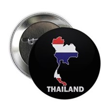"Flag Map of Thailand 2.25"" Button"