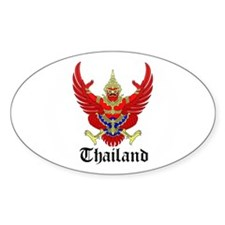 Thai Coat of Arms Seal Oval Decal