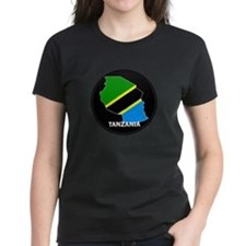 Flag Map of Tanzania Tee