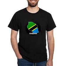 Flag Map of Tanzania T-Shirt