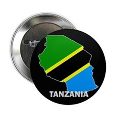 "Flag Map of Tanzania 2.25"" Button"