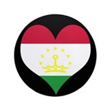 "I love Tajikistan Flag 3.5"" Button"