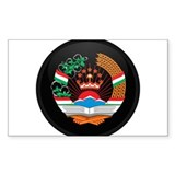 Coat of Arms of Tajikistan Rectangle Decal