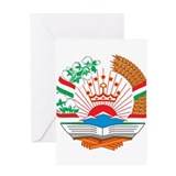 Tajikistan Coat of Arms Greeting Card