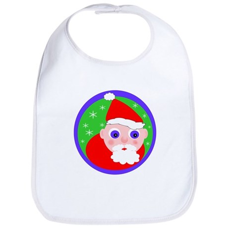 Santa Cartoon Bib