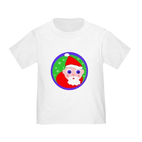 Santa Cartoon Toddler T-Shirt