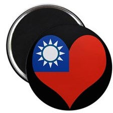 I love taiwan Flag Magnet