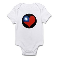 I love taiwan Flag Infant Bodysuit