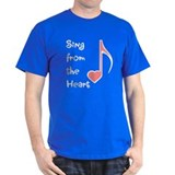 Sing from the Heart Black T-Shirt